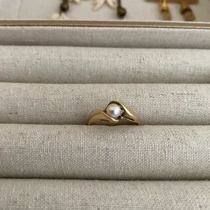 Jewelry - 10k gold pearl ring size 6